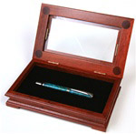 Fancy Rosewood Gift Box with Glass Display Top