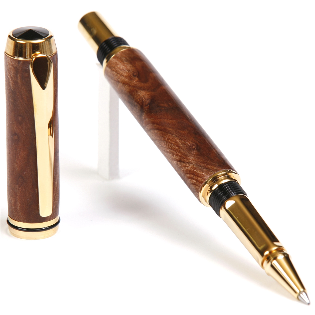 Baron Rollerball Pen - Redwood Lace Burl