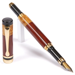 Classic Fountain Pen - Cocobolo with Yellow Box Elder