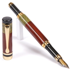 Classic Fountain Pen - Cocobolo with Green Box Elder
