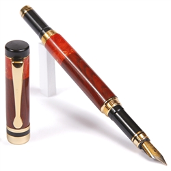 Classic Fountain Pen - Cocobolo with Red Box Elder
