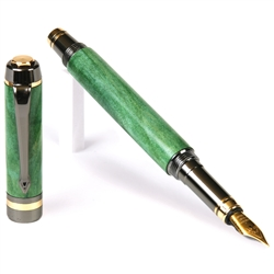 Classic Elite Fountain Pen - Green Box Elder