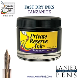 Private Reserve Tanzanite Fast Dry Fountain Pen Ink Bottle 07-F-TZ - Lanier Pens