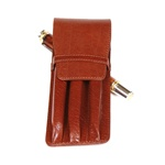 Leather Pen Holder – Brown Triple