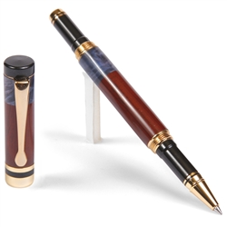 Classic Rollerball Pen - Cocobolo with Blue Box Elder