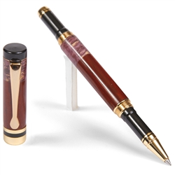 Classic Rollerball Pen - Cocobolo with Purple Box Elder