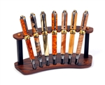 Rosewood & Ebony Upright Pen Stand - 7 Pen