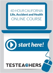 40 Hour California Life, Accident and Health Online Course