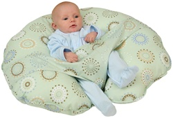 Leachco Cuddle U Positioning Pillow - Sunny Circles