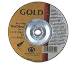 "Carbo GOLD 7"" x 1/4"" x 5/8-11 Depressed Center Grinding Wheel Type 27"
