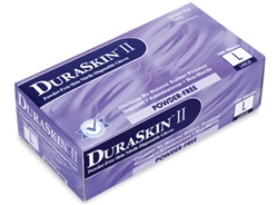 "DuraSkin Industrial Powder-Free ""Velvet Blue"" Nitrile Gloves SMALL"