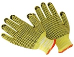 Cut-Resistant Kevlar®/Cotton String Knit Gloves w/ PVC Dot Grip - Men's