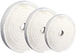 "Formax 4"" x 1/4"" Cotton Buffing Wheel 20ply"