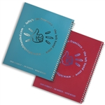 "8.0"" x 10.5"" Left-Handed Wide Ruled Spiral Logo Notebook"