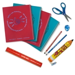 10 Piece Left-handed Back to School Wide Ruled Notebook Set