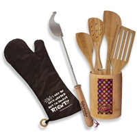 Set of Left-handed tools including BBQ tools