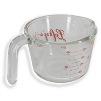Clear Glass Lefty Measuring Cup