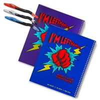 Super Power Wide-Ruled Left-Handed Notebook Set with Pens