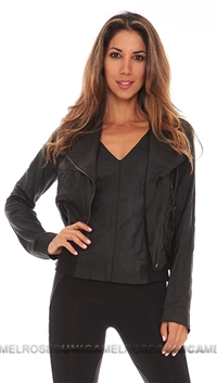 Illia Black Moto Leather Jacket