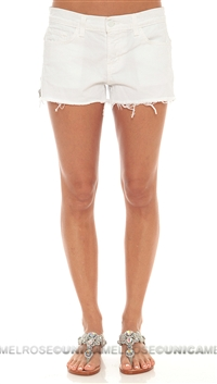 J Brand Rita White Cut Off Shorts