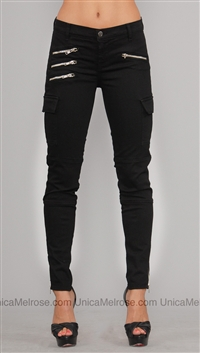 J Brand Black The Brix Zipper Jean
