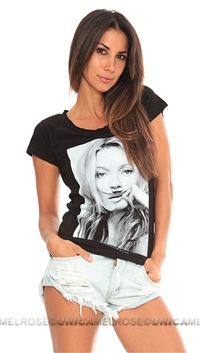 Eleven Paris Black 'Kate' Mokat Tee