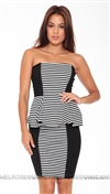 Torn by Ronny Kobo Camilla Dress Stripes Dress