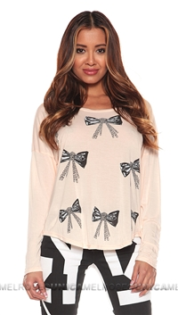 Lauren Moshi Apricot Arizona Crew Neck Tee