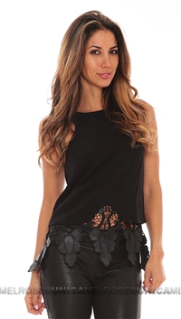 Style Stalker Black Lace Sequin Top