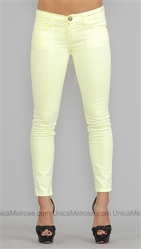 Current Elliott Neon Yellow Jean