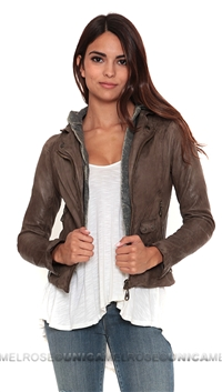 DOMA Leather Hoodie Jacket
