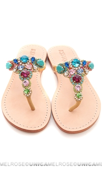 Mystique Multi Colored Gold Sandals