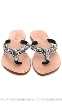 Mystique Silver and Black Sandals