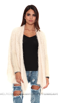 Care Of You Creme Fluffy Cardigan