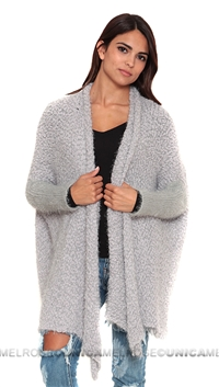 Care Of You Grey Fluffy Cardigan