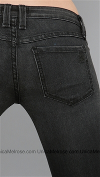 Frankie B Onyx Black with Side Seam Studs Skinny Jean