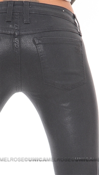Frankie B Charcoal My BFF Jegging Slick Jeans