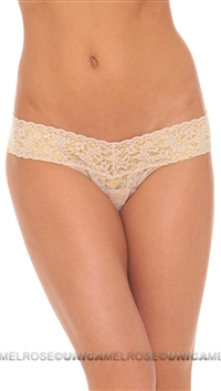 Nude Golden Signature Lace Lowrider Thong