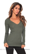 Feel The Piece Green Viper Long Sleeve Top
