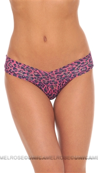 Hanky Panky Pink Leopard Signature Lace Lowrider Thong