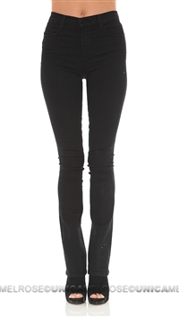 J Brand Black Remy High Waisted Slim Boot Cut Jeans