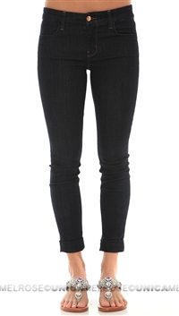 J Brand Anja Dark Denim Cuffed Jeans