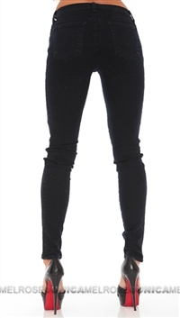 J Brand Navy Blue Skinny Photo Ready Side Seam Piping Jeans