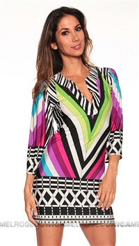 Analili Multi Color Print Dress