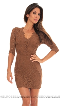 NightCap Mini Brown Dress