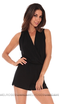 NightCap Kauai Solid Black Romper