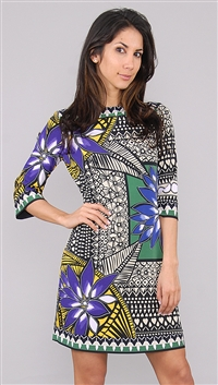 Ali Ro Peridot Pattern Dress