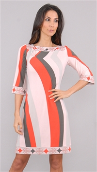 Ali Ro Red Pattern Dress