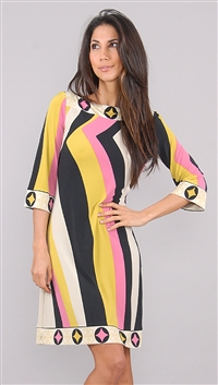 Ali Ro Yellow Pattern Dress