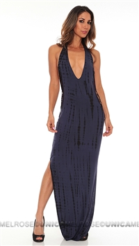 Indah Purple Tie Die Modal Maxi Dress
